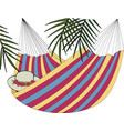 hammock and palm vector image