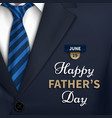 happy fathers day greeting vector image vector image