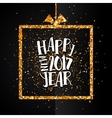 Happy new year 2017 golden card vector image vector image