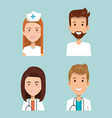 healthcare professionals design vector image vector image