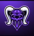 horn skull mascot logo vector image vector image