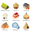 houses of nations vector image
