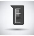 Icon of chemistry beaker vector image