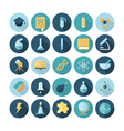 icons flat line science vector image vector image