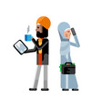 indian man with tablet computer vector image