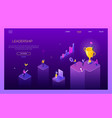 leadership concept - colorful isometric web vector image