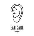 line style icon a ear ear care logo vector image