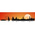 london at sunset skyline vector image