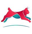 lynx jump volume logo for a sport team vector image vector image