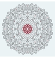 Mandala Print in red and grey color vector image vector image