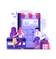 mobile online payment concept in flat design vector image vector image
