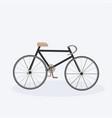 modern bicycle stylish cartoon bike white vector image
