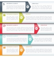 Modern Minimalistic Infographics Options Template vector image vector image