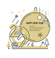 new year gold 2020 number design vector image vector image