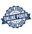 online poker stamp sign seal vector image vector image