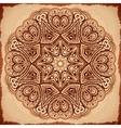Ornate vintage napkin background vector image vector image