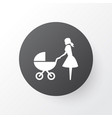 perambulator icon symbol premium quality isolated vector image