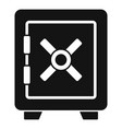 police safe icon simple style vector image vector image