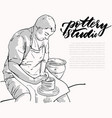 professional male potter vector image vector image