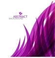 purple wave template vector image