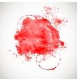 Red splash on white background vector image vector image