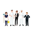 Restaurant team man cooking chef manager waiter vector image vector image