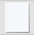 ruled sheet of notebook paper vector image