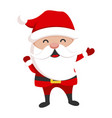 santa claus cute christmas character holiday vector image