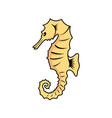 seahorse icon cartoon of seahorse vector image