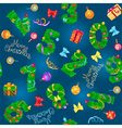 Seamless pattern from numbers like fir vector image vector image