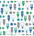 seamless pattern with bulbs and socket vector image