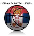 Serbian basketball school vector image vector image