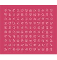 set line icons industrial 40 vector image vector image