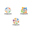 set of community people logo vector image vector image