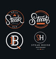 set of steak house logos vector image
