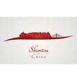 Shantou skyline in red vector image vector image