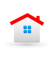 simple family house icon vector image