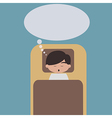 Sleeping man with speech bubble vector image