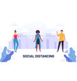 social distancing guide protective meter and vector image vector image