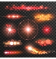 Sparkling light flashes Lens flare effect vector image vector image