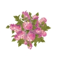 Top View Bouquet of Lilac vector image