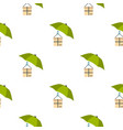 umbrella and box pattern flat vector image vector image