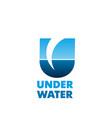 under water emblem vector image