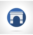 Wall archway blue round icon vector image vector image