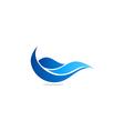 water abstract wave blue logo vector image vector image
