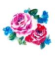 Watercolor roses vector image