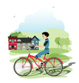 Young cyclists vector image vector image