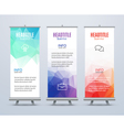Banner Stand Design Template with Abstract vector image