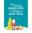 Merry Christmas Santa Claus in Christmas snow vector image
