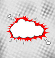Explosion pop-art bubble template comic style vector image